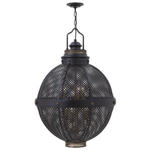 Miramar Black 24-Inch Six-Light Foyer Pendant