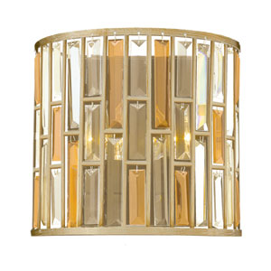 Gemma Silver Leaf 11-Inch Two-Light Wall Sconce