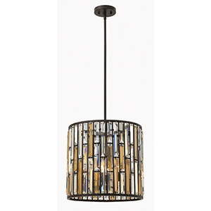Gemma Vintage Bronze Three Light Foyer Pendant