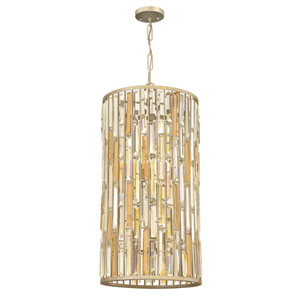 Gemma Silver Leaf 16-Inch Six-Light Foyer Pendant