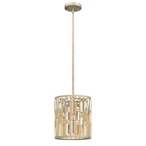 Gemma Silver Leaf 10.5-Inch One-Light Pendant