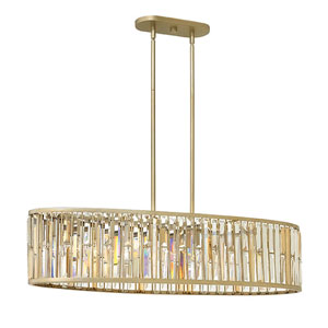 Gemma Silver Leaf Six-Light Pendant
