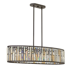 Gemma Vintage Bronze Six-Light Pendant