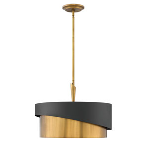 Gigi Heritage Brass Three-Light Stem Hung Pendant