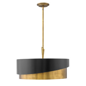 Gigi Heritage Brass Five-Light Stem Hung Pendant