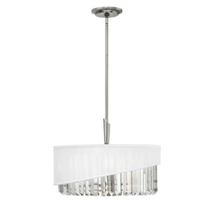 Gigi Polished Nickel Three-Light Stem Hung Foyer