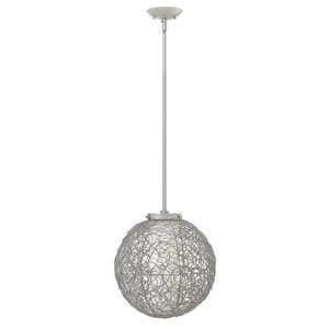 Spago Titanium 13.5-Inch One-Light Pendant