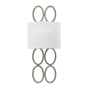 Jules Brushed Nickel Two-Light Wall Sconce