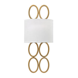 Jules Brushed Gold Two-Light Wall Sconce