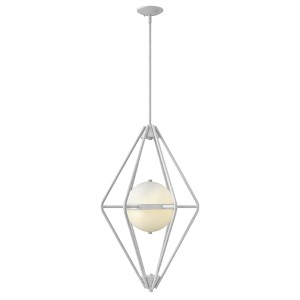 Spectra Cloud Two Light Foyer Pendant with Etched Opal Glass