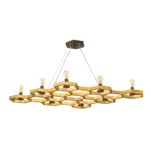 Moxie Sunset Gold Eight-Light Chandelier