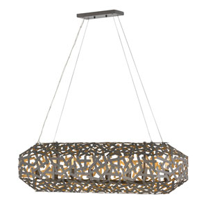 Kestrel Metallic Matte Bronze Eight-Light Linear Pendant