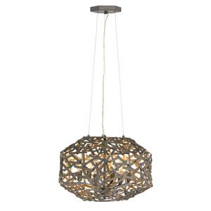 Kestrel Metallic Matte Bronze Three-Light Pendant