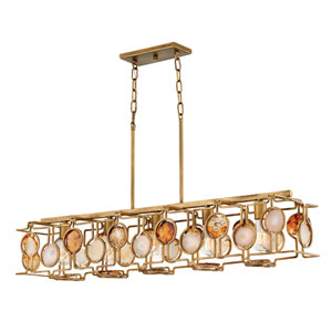 Lucia Burnished Gold Five-Light Linear Pendant