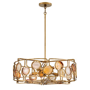 Lucia Burnished Gold Eight-Light Pendant