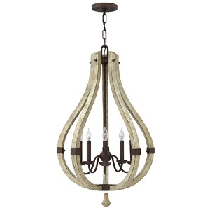 Middlefield Iron Rust Five Light Foyer Pendant