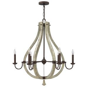 Middlefield Iron Rust Six Light Chandelier