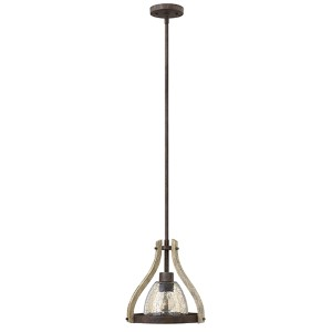 Middlefield Iron Rust One Light Pendant with Smoked Glass