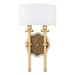Alba Cleopatra Gold Two-Light Wall Sconce
