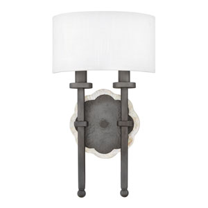 Alba Metallic Matte Bronze Two-Light Wall Sconce