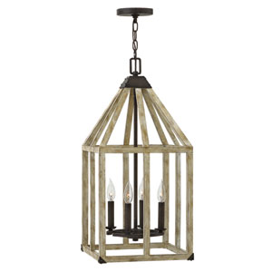 Emilie Iron Rust 13-Inch Four-Light Foyer Pendant