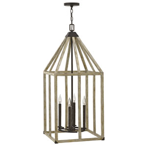 Emilie Iron Rust 16-Inch Four-Light Foyer Pendant