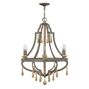 Cordoba Distressed Iron 26-Inch Six-Light Chandelier