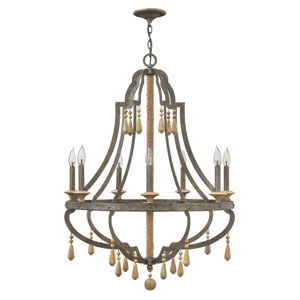 Cordoba Distressed Iron 30-Inch Seven-Light Chandelier