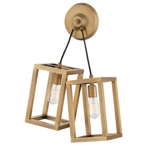 Ensemble Brushed Bronze Two-Light Wall Sconce