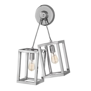 Ensemble Polished Nickel Wall Sconce