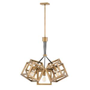 Ensemble Brushed Bronze Five-Light Stem Hung Single Tier