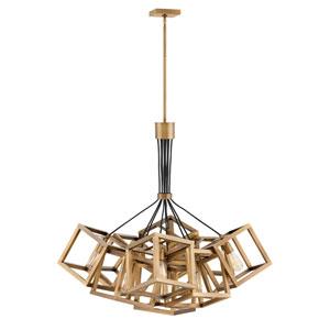 Ensemble Brushed Bronze Nine-Light Stem Hung Single Tier