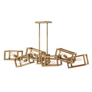 Ensemble Brushed Bronze Six-Light Linear Pendant