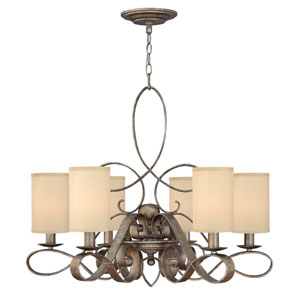 Monterey Brushed Merlot Six-Light Chandelier