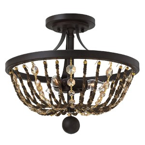 Hamlet Vintage Bronze Three Light Foyer Chandelier