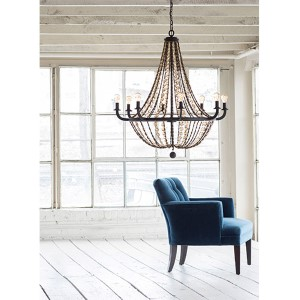 Hamlet Vintage Bronze Eight Light Chandelier