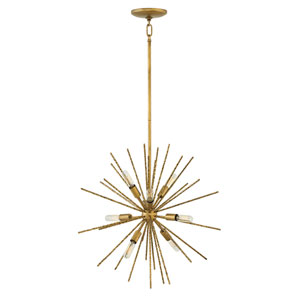 Tryst Burnished Gold Eight-Light Stem Hung Pendant