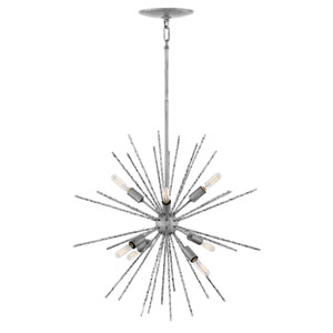Tryst Burnished Nickel Eight-Light Stem Hung Pendant