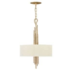 Spyre Champagne Gold Three-Light Single Tier Pendant
