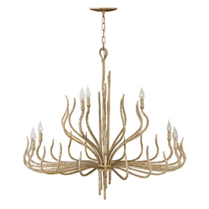 Spyre Champagne Gold Nine-Light Two Tier Chandelier