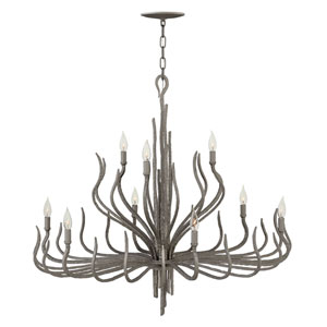 Spyre Metallic Matte Bronze Nine-Light Two Tier Chandelier