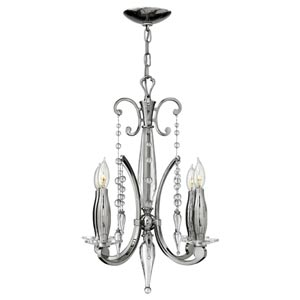 Alexandra Polished Nickel Four-Light Chandelier