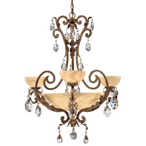 Barcelona French Marble Center Bowl Chandelier