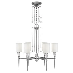 Bentley Antique Nickel 27-Inch Six-Light Chandelier