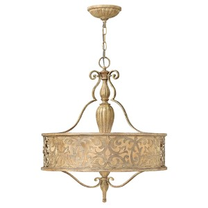 Carabel Brushed Champagne Three-Light Pendant