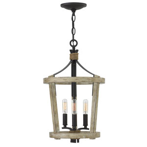 Sherwood Cottage Whitewash Three-Light Foyer Pendant