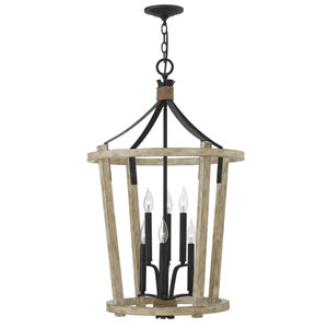 Sherwood Cottage Whitewash Six-Light Two-Tier Foyer Pendant