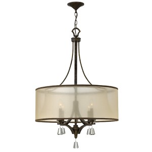 Mime French Bronze Four Light Pendant