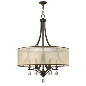 Mime French Bronze Six Light Foyer Pendant