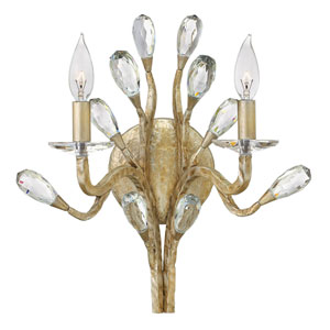 Eve Champagne Gold Two-Light Wall Sconce